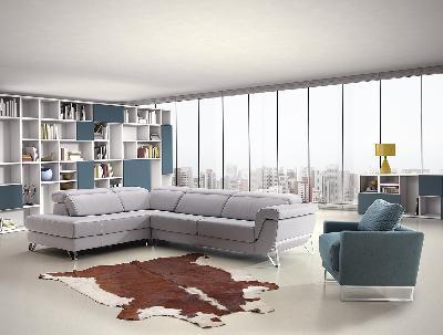 Corner sofa in leather