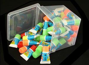 Tubes with gum