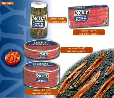 Canned anchovy fillets