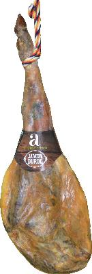 Duroc Ham. Minimum 24 months dry curing time period. Great intramuscular infiltration. Very sweet. Intense Aroma. Mild and tasty flavor. Pleasant texture. Weight 8 -10 Kg.