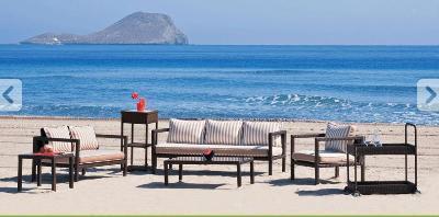 Preparation of beach furniture cushions and garden