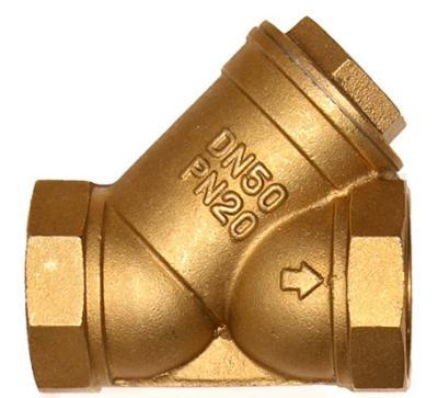 Brass threaded filter