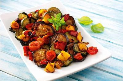 Prepared foods with a mixture of salted vegetables