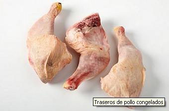 Rear of frozen chicken