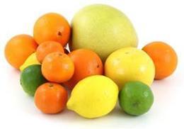 Citrus fruits: mandarin, orange, lemon and grapefriut