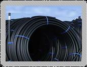 Polyethylene pipes.