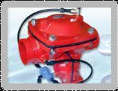 Hydraulic-metal valves.