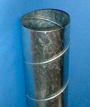 Rigid helical tube made of galvanized or stainless steel