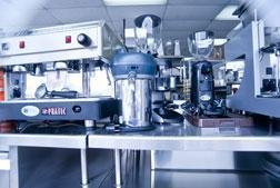 Equipment cleaning and hygiene and hospitality industry, kitchen and bar equipment
