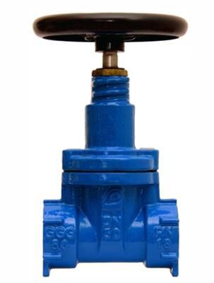 Threaded knife gate valve