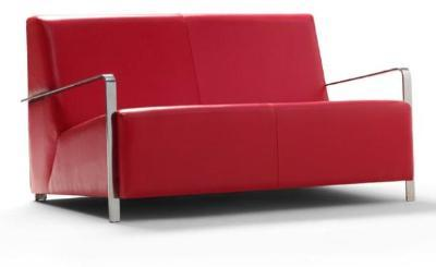 Sofa upholstered in fabric