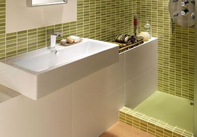 Ceramic coverings for bathrooms