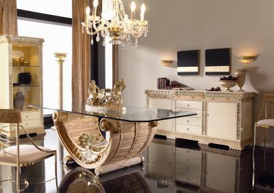 Rectangular dinning table Model EMPERATRIZ size 250x110x75