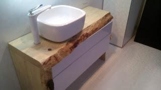 Wooden bathroom countertop