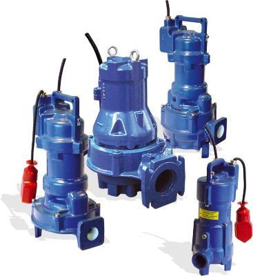 Sewage pumps and dewatering, submersible mixers. Cast steel or bronze