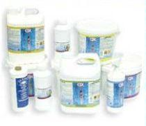 Chemical products for pools