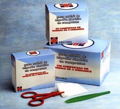 Sterile gauze, 5 pieces per pack
