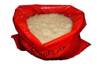 Frozen or chilled garlic paste