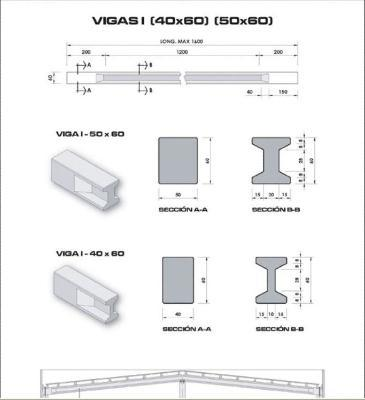 Cement girders for residential and industrial construction purposes