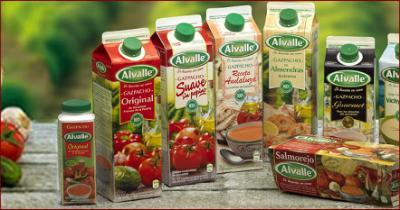 Alvalle gazpacho made with 100% high quality fresh vegetables