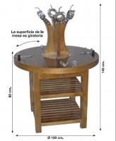 Turning support table for 4 hams