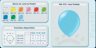 Balloons in pastel tones