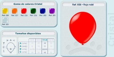 Balloons in glassy tones