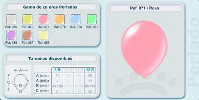 Balloons in pearly tones