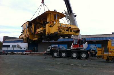Rail machinery transport