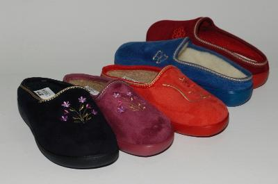 Womans shoes rubber soles and textile uppers