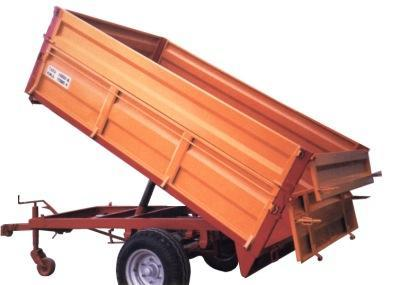 One axle agricultural trailer