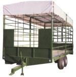 Tandem agricultural trailer