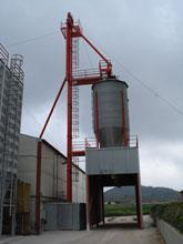 Cylindrical and square silos