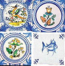 Tiles with borders