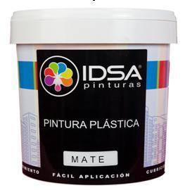 Economic high performance white matt plastic paint with acrylic copolymers.