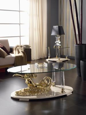 Coffee table model Sirena Elliptical 120x70x45 cms.