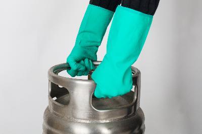 Industrial nitrile glove