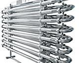 XTUBE MONOTUBE. These are corrugated tube heat exchangers formed by two concentric tubes and are especially useful for treating particulate fluids
