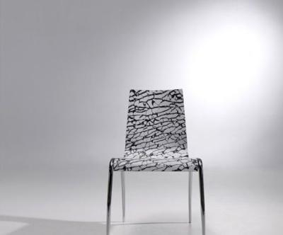 Vanguard chair with chrome iron foot