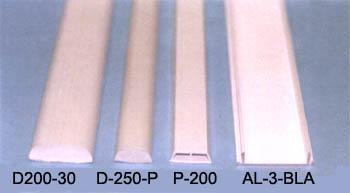 Profiles for coatings monocastrates in pvc