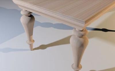 Turn leg table