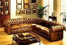 Tufted upholstered sofas