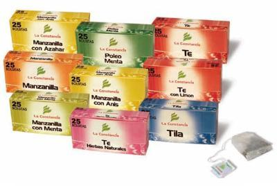 Infusions of chamomile tea, natural herbs in various formats