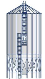 Farm silos, silos high, seated silos, bulk bins.
