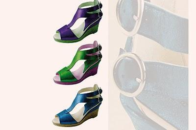 Model sandal shoes