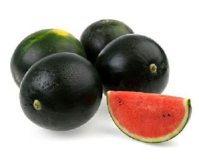 Seedless black watermelons