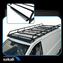Oval tube modular roof rack. Maximum resistance by anti-corrosive thermoplastic bathroom with polyester