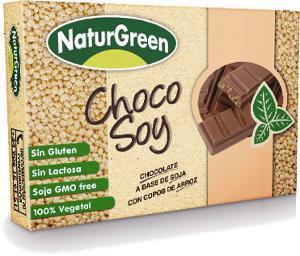 Soya and rice flakes chocolate bar