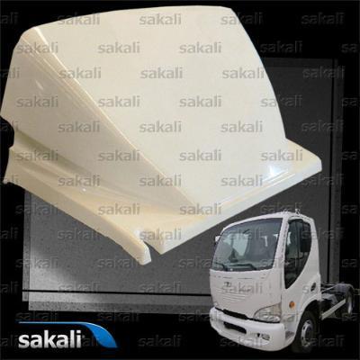 Spoiler made of fiber reinforced composites (FRP).