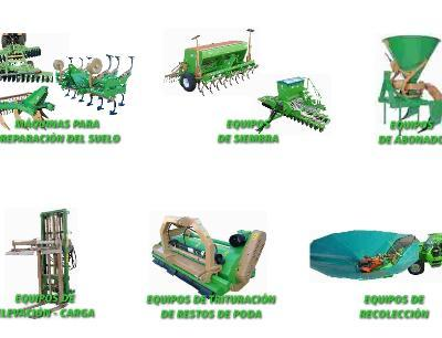 Floor repair machines, lifting and loading equipment, crushing equipment pruning, harvesting equipment